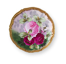 Limoges Porcelain Plates with Roses